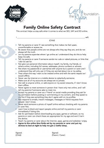 Online Safety Contract