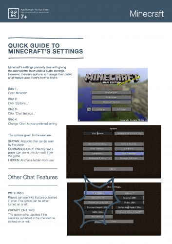 Settings Minecraft